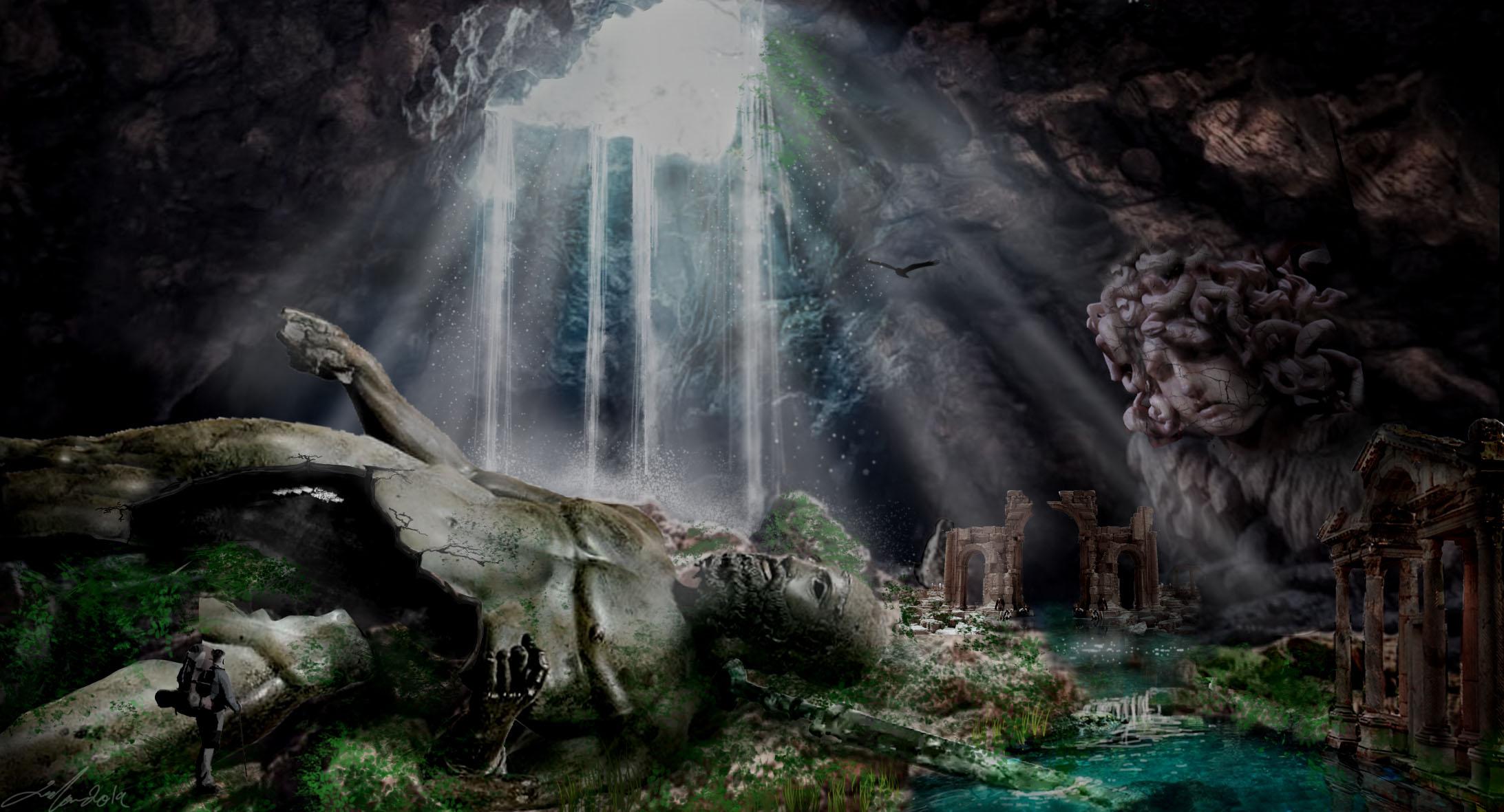 Digital Art: Ancient Cave